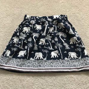 LOFT Elephant Skirt